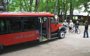 New National Park Service Bus parked at Stehekin Valley Ranch