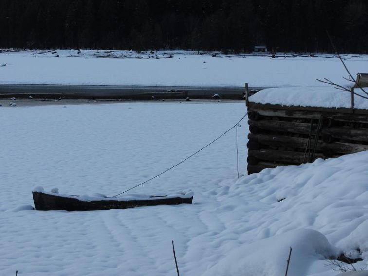 Winter Canoe Moorage