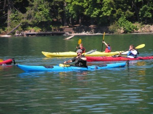 Enjoying a Kayak Tour on Lake Chelan